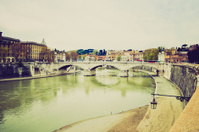 Rome, Italy retro look