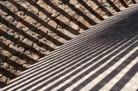 Shadows Cast by Shelter at Playa Blanca Beach, Lanzarote
