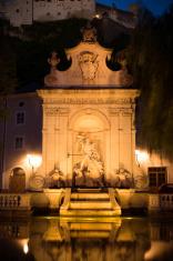 Chapter Fountain at Kapitelplatz in Salzburg, Austria