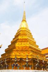 Golden pagoda with warriors