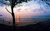 Angola, Bengo Province, sunset.