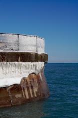 Frozen Breakwall at the lake