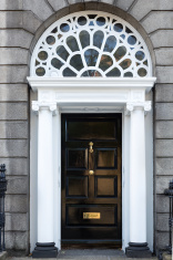 Black Georgian Door