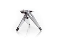 mini camera tripod isolated on a white background