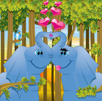Elephant Love - Amorous Animals Series