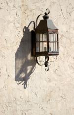 Lamp on an Adobe Wall