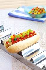 Hod Dog with fruits