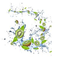 Kiwi in splash