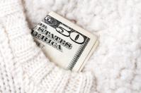 Money in Sweater Pocket