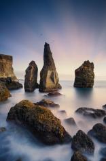 Reykjanes coastline in Iceland