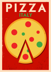 Vintage Pizza Poster