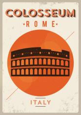 Retro Colosseum Poster