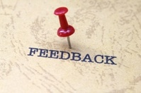Push pin on feedback text