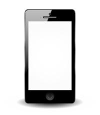 Black smartphone isolated on white background - Smart phone