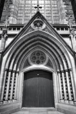 Cathedral door in Melbourne