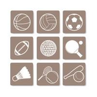Sport sign, symbol vector
