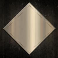 Gold metallic background on grunge