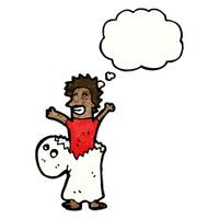man in ghost costume cartoon