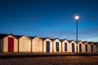 Beach Huts at Night