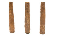 three cigars isolated on white