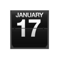Counter calendar January 17.