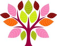 Textured tree icon
