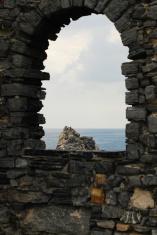 Window to nature in Portovenere, Italy