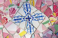 Gaudi mosaic work at Park Guell