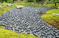Pebble river in Zen garden