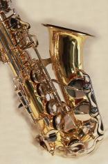 saxophone on white background