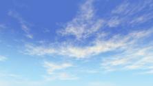 Blue sky flowing