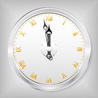 The clock.