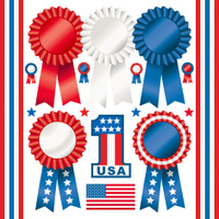 Red White and Blue Rosettes