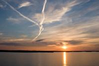 Sunset over Stockholm Archipelago