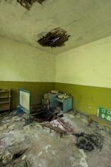 Derelict Kindergarten/school ruin, inside view, in Chernobyl