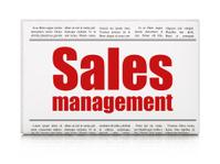 Advertising news concept: newspaper headline Sales Management
