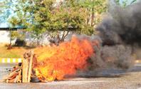 Burning fire.