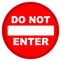 Signs no entry.