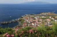 Island of Corvo in the Atlantic Ocean Azores Portugal