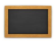 Wooden Empty Chalkboard