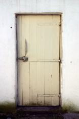 white barn door