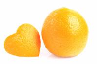 Orange isolated white background.