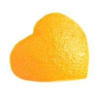 Orange peel isolated white background.