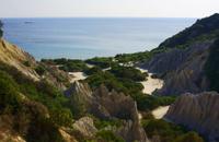 mountains on coast at Zakynthos island