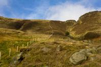 Dividing fence on a mountain