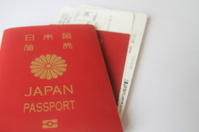 Japanese passports and boarding passes