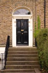 Dublin door, black