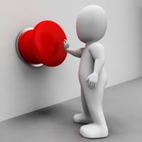 Man Pushing Button Shows Control