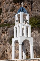 typical greek belfry on the island of Karpathos, Greece