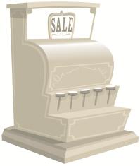 Old fashioned cash register till